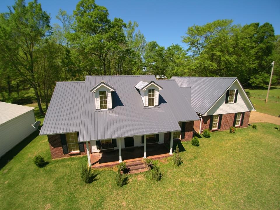 Charcoal Gray Residential Profile Metal Roof - BR-3