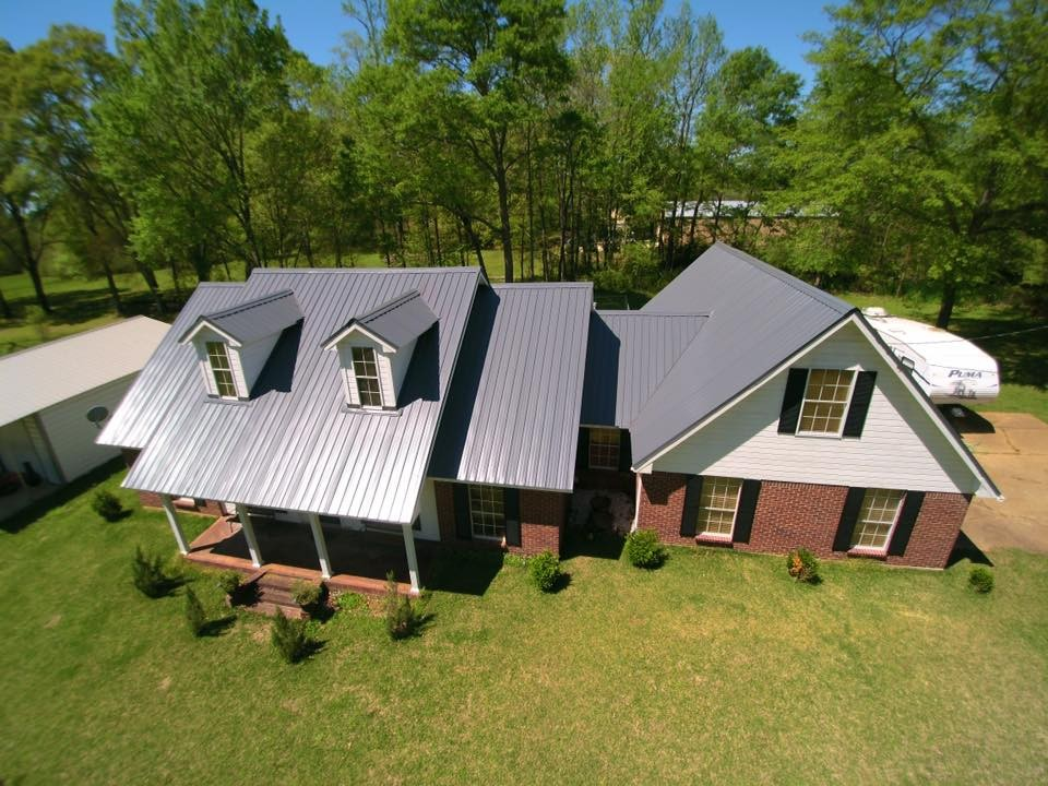 Charcoal Gray Residential Profile Metal Roof Images