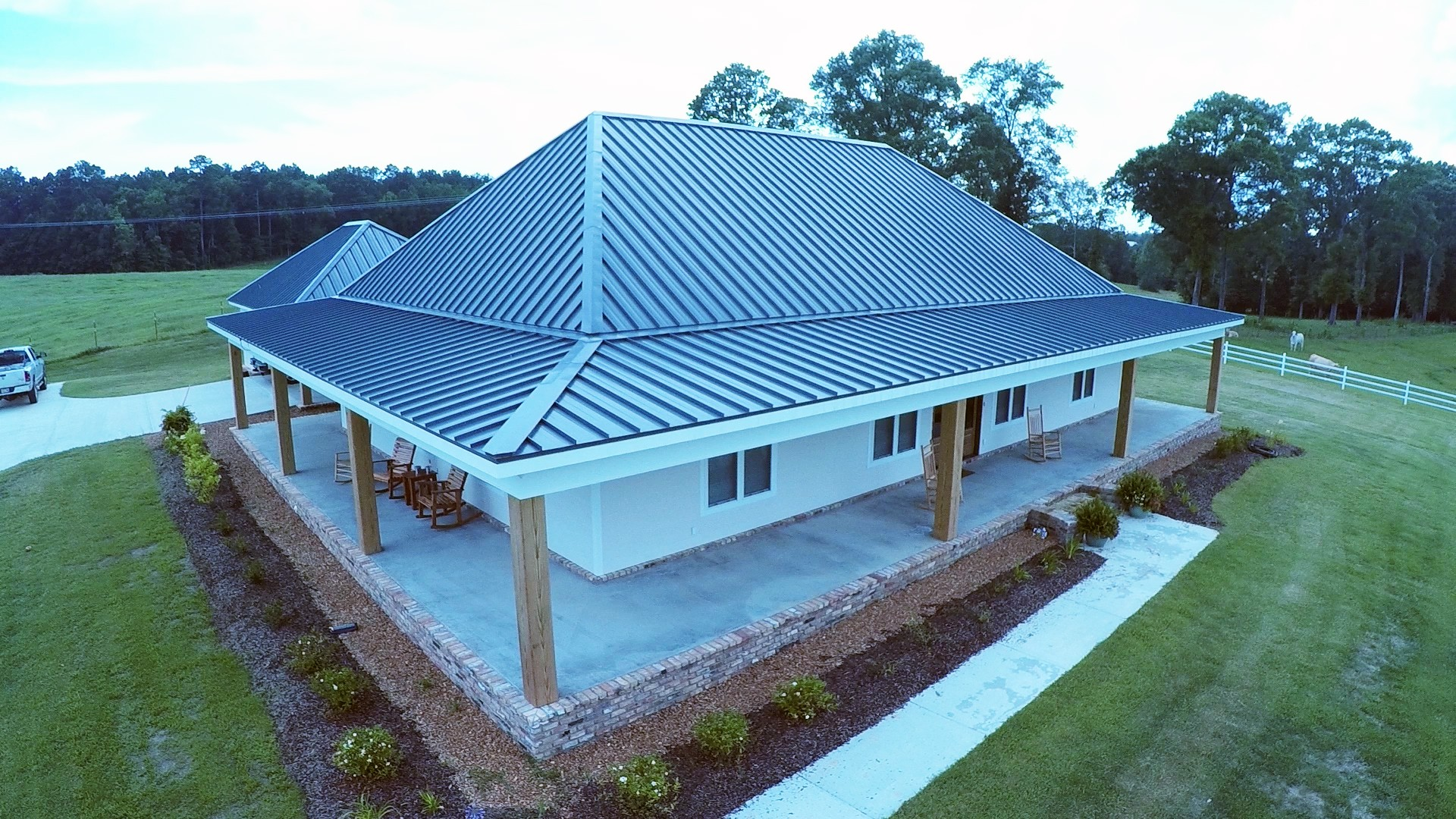 Hawaiian Blue Secure-Seam Standing Seam Metal Roof - BR-5