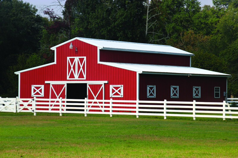 red metal barn