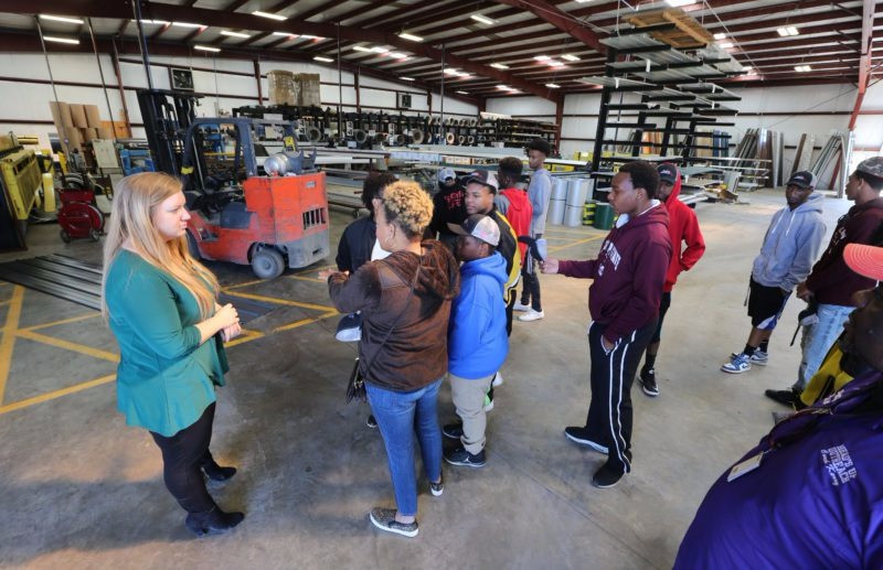 Reed's Metals in Saltillo gives facility tour to local youth