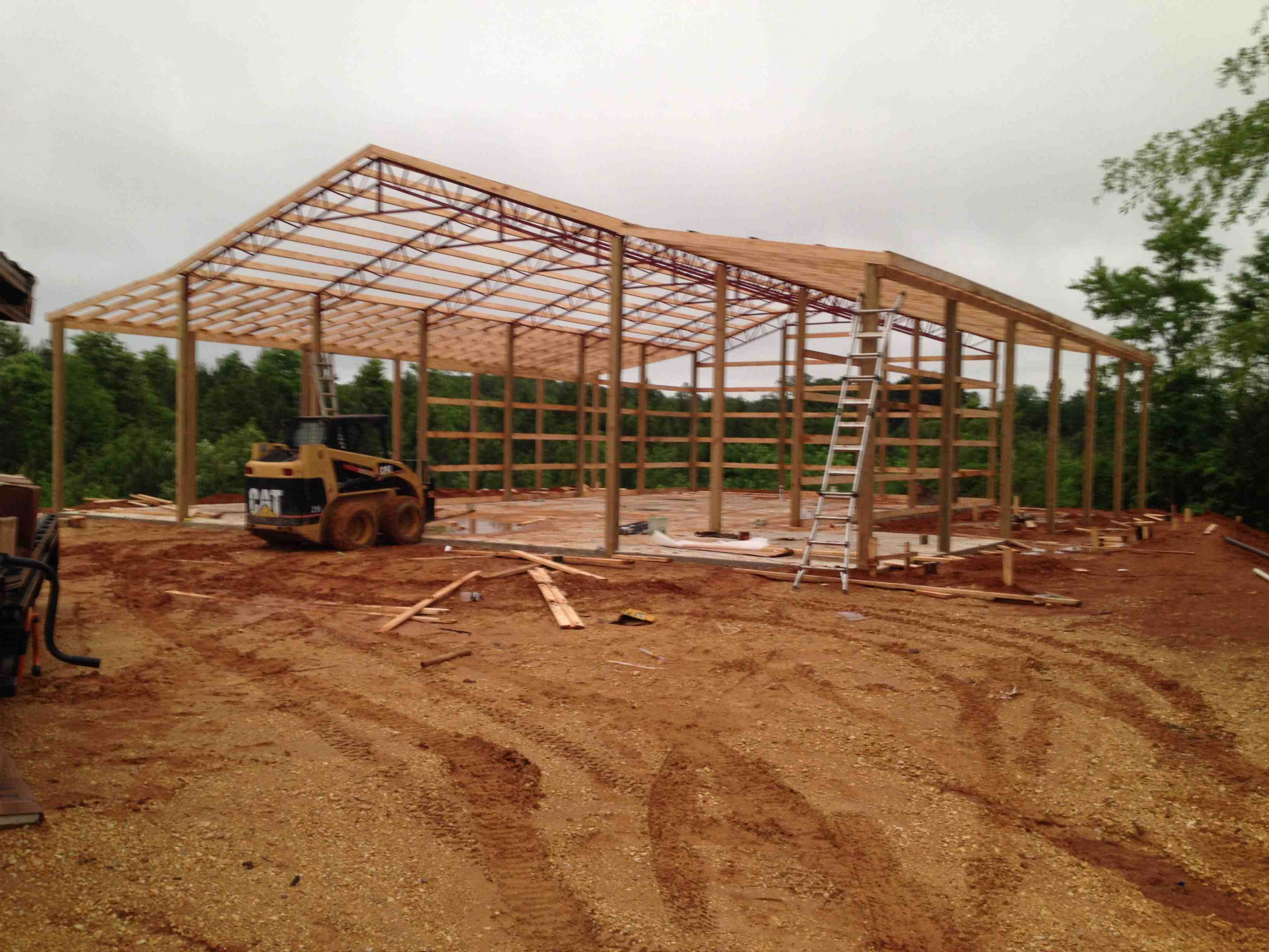 buildings for post barns pole pa building photo tri gallery trusses state residential steel nj frame