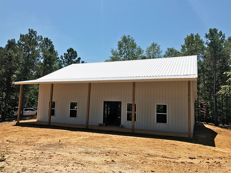 Polar White/Galvalume Metal Building Home - Reed's Metals