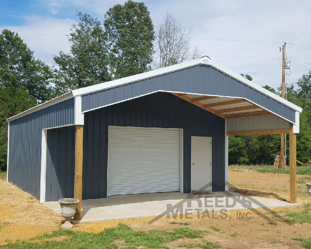 Charcoal Gray Polar White Pole Barn Reed S Metals