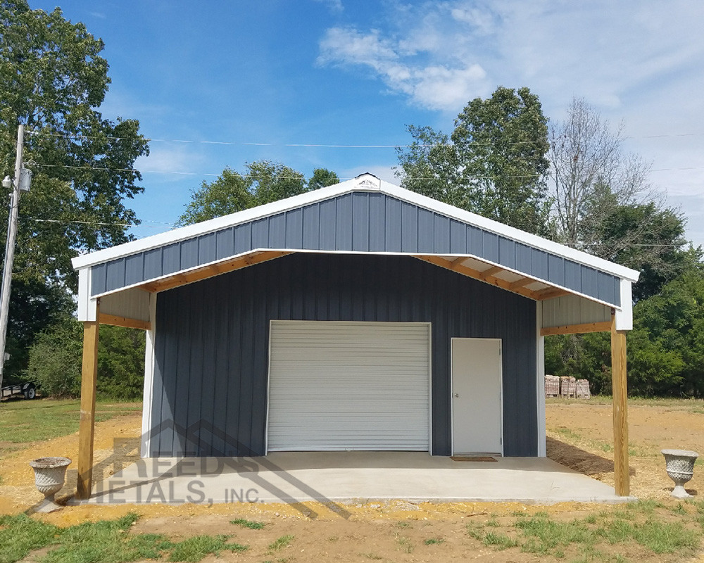 Charcoal Gray Polar White Pole Barn