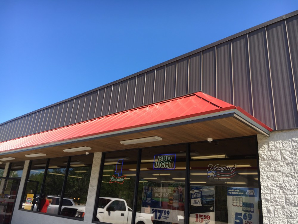 Burnished Slate/Patriot Red Commercial Roofing - TU-47
