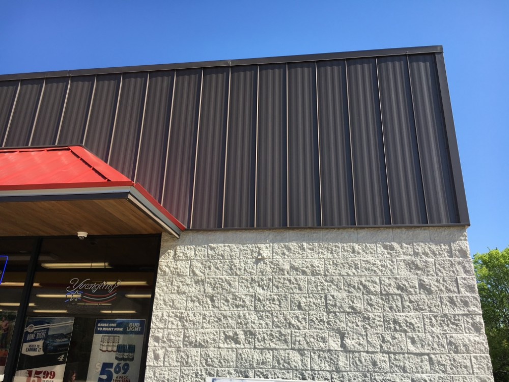 Burnished Slate/Patriot Red Commercial Roofing Images