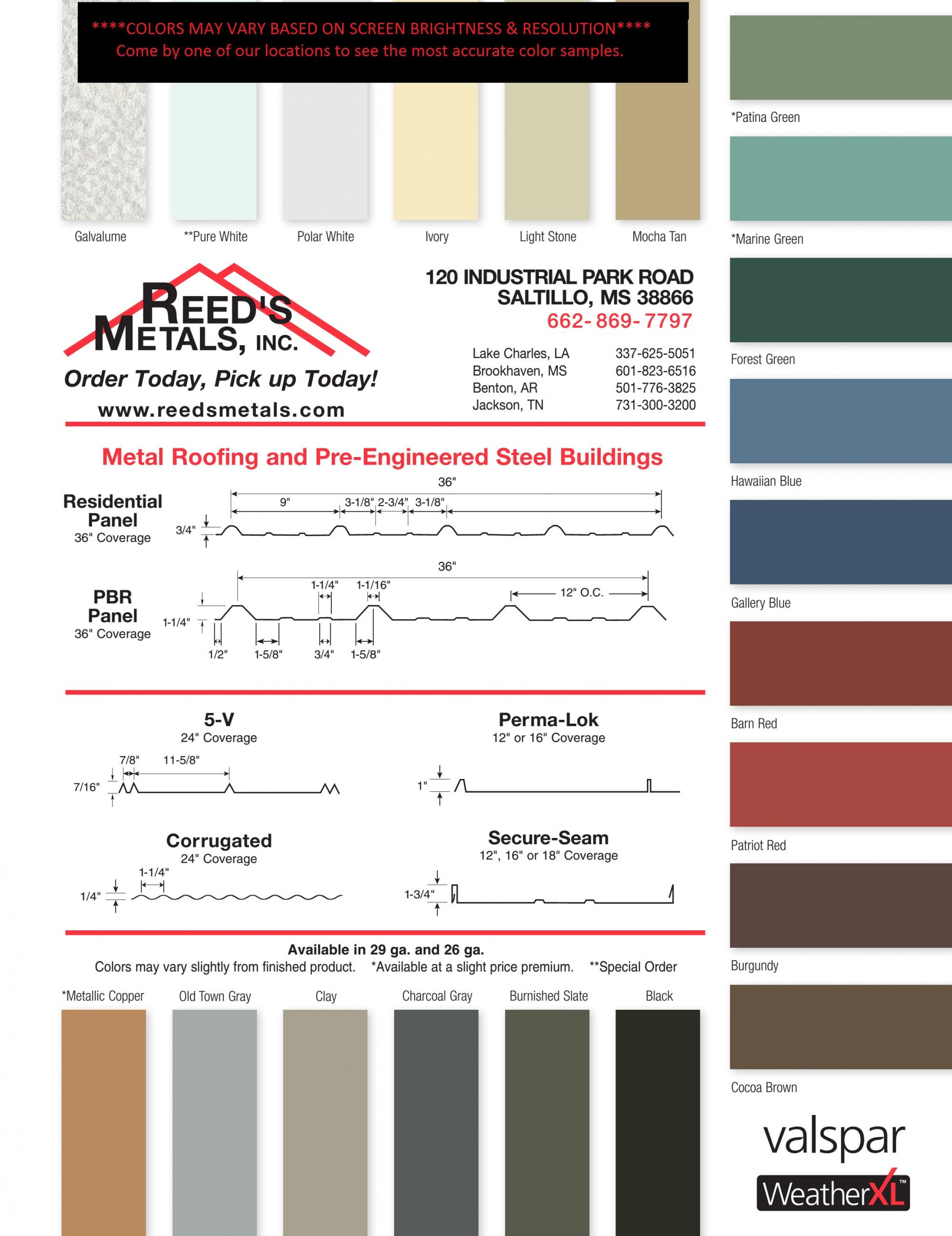 Contractor Program Reed S Metals