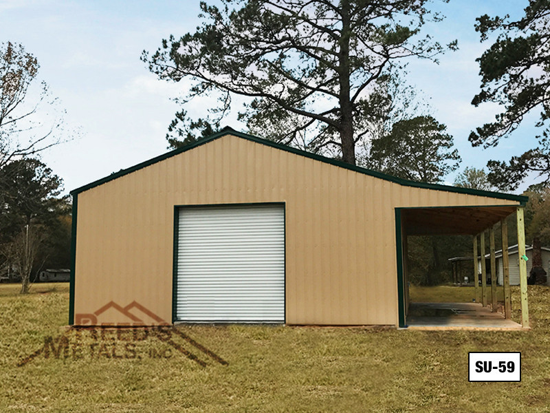Mocha Tan 30' x 40' Enclosed Post Frame Building  - SU-59