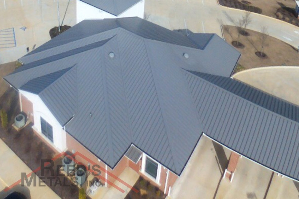 26 Gauge Charcoal Gray Secure-Seam Roof Images