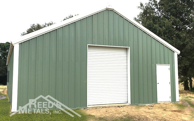 Polar White/Patina Green 30x60x10 Rigid Frame Shop/House Images