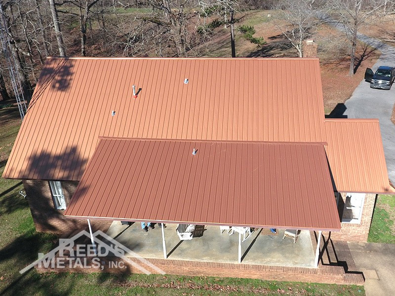 29 Gauge Metallic Copper Residential Roof Images