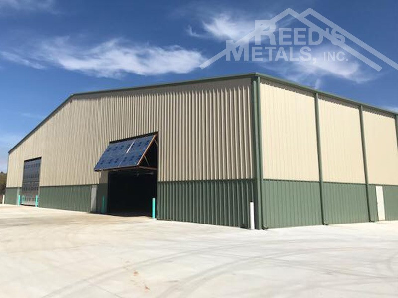 Galvalume/Light Stone/Patina Green 150x250x24 Rigid Frame Commercial Building with 30x75 Lean-To - BR-84