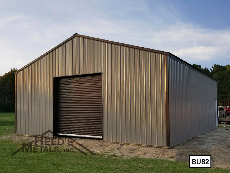 Mocha Tan 30' x 40' Enclosed Post Frame Building  - SU-82