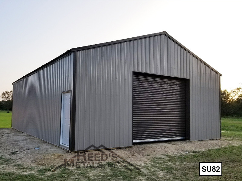 Mocha Tan 30' x 40' Enclosed Post Frame Building  Images