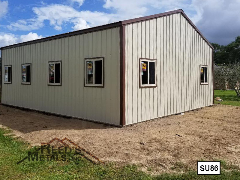 Light Stone 20' x 30' Enclosed Post Frame Building  Images