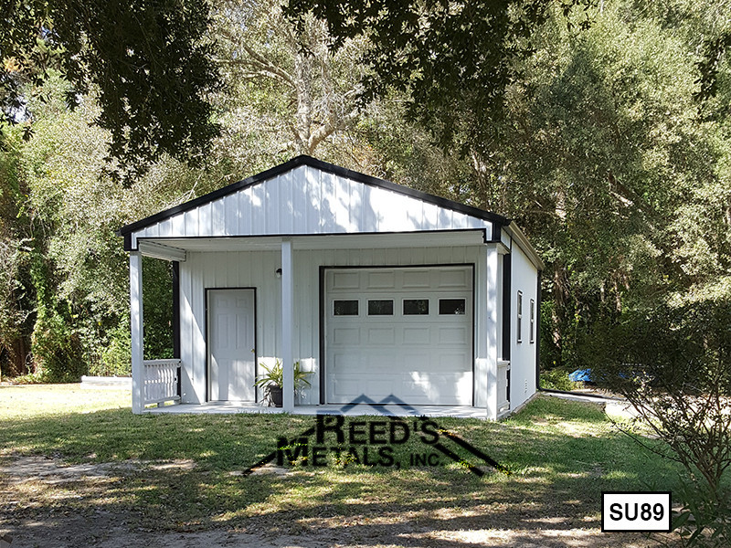 Polar White 20' x 20' Enclosed Post Frame Building  Images