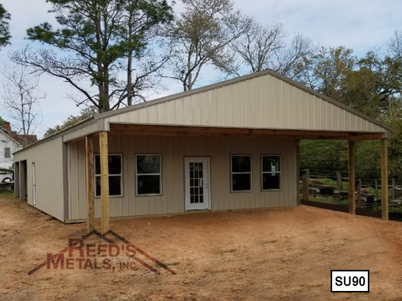 Clay 30' x 50' Enclosed Post Frame Building  - SU-90